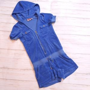JUICY COUTURE Romper Hoodie Terry Cloth Size XS
